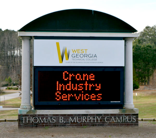 West Georgia Technical College and Crane Industry Services campus entrance